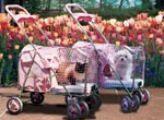 Pretty Pink Cat Pet Strollers