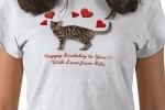 Happy Birthday T-Shirt example for cat lovers!