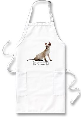 Example customized apron for cat lovers!