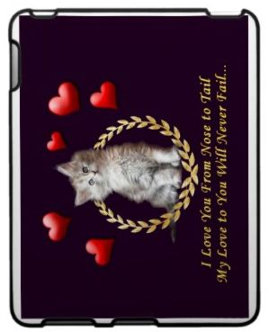 iPad cover case sample - cat gift ideas from CatLovingCare  for cats participation in our books!