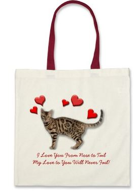 A sample shopping bag for cat lovers - great cat gift ideas